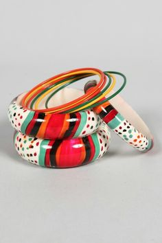 Moroccan bangles, hand painted