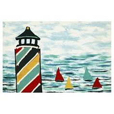 Trans Ocean Imports Liora Manne Visions IV Lighthouse Doormat - 20'' x 29 1/2''