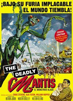 The deadly Mantis Retro Hits, Horror Art, Film, Apocalypse, Comic Books, Comics, Cover, Vintage Movies, Monsters