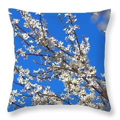 Spring, blossoms, Throw Pillows, In Stock