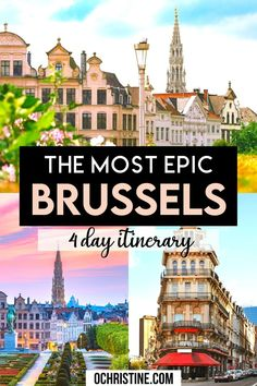 The Most Epic Brussels 4 Day Itinerary. this is a great Brussels 4 day itinerary to discover everything the city has to offer. What to do in Brussels, where to eat and more. Brussels is such an underrated destinations with a lot of adorable spots and hidden gems. | what to do in Brussels | Brussels bucket list | Best things to do in Brussels | Brussels Itinerary | Brussels travel guide |