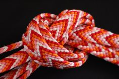 Obijime, Vintage Japanese Silk Obi-jime, Silk Obi Kimono Cord, Silk Cord, Pinks, Orange & White Belt, Braided Cord, Free Air Mail Shipping by KominkaFabricsJapan on Etsy