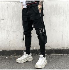 2018 New Fashion Streetwear Joggers Men Black Harem Pants Multi-pocket Hip Hop Mens Sweatpants Jogger Pants Men VOLGINS 2018 Streetwear Black Harem Pants Multi-pocket Hip Hop Sweatpants Jogger Men's Clothing Fashion Mode, Fashion Pants, Korean Fashion, Style Fashion, Fashion Shirts, Hip Hop Fashion, Fashion Styles, Rocker Fashion, Fashion Trends