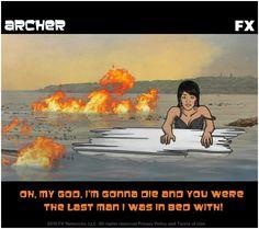Poor Lana... Archer Tv Show, Archer Fx, Classic Quotes, Make Em Laugh, Danger Zone, Last Man, Action Film, Cool Animations, Guilty Pleasure