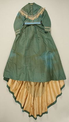 Afternoon Dress 1867, American, Made of silk