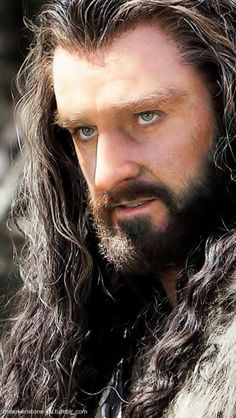 Richard Armitage as Thorin Oakenshield with that nose, hair, eyes...everything... (Call 911)