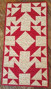 quiltsbycheri: simply red and green.....