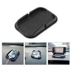 Para GPS MP3 Universal de Coche de múltiples funciones Anti Almohadilla de Goma Antideslizante Mobile Dashboard Stick Sticky Teléfono Estante Antideslizante Mat
