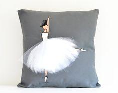Copertura del cuscino della ballerina coperchio bianco luce
