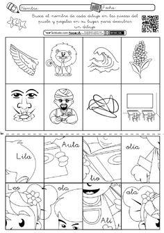 Con la siguiente ficha el alumnado deberá leer las palabras que aparecen en las piezas del puzle, para recortarlas y pegarlas sobre su dibujo correspondiente. Debe trabajarse después de que conozca...