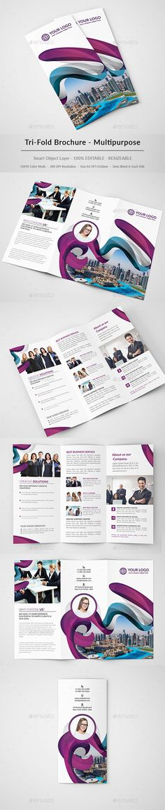 Corporate TriFold Brochure  Template Brochures And HttpWww