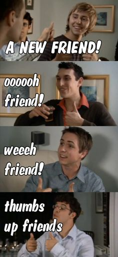 "The Inbetweeners, ""Friend! Can I also take this opportunity to say, ""clunge!"" and, ""bus wankers! British Memes, British Comedy, Tv Quotes, Funny Quotes, Life Quotes, The Inbetweeners, Comedy Tv, New Friends, Closest Friends"