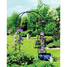 Black Steel Garden Arch, Trellis, Arbor, Wedding