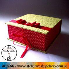Caixa Cartonagem - Atelier Wesley Felício #Artesanato #Crafts #Cartonagem #Caixa #TecidosAlgodão #Organização #Presente #Handmade #FeitoAMão