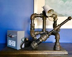 The Rock Star Industrial Lamp/Coolest Lamp/Industrial Decor/Guitar Lamp/Industrial Chic