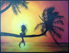 Mermaid Painting by tori5585 on Etsy, $100.00