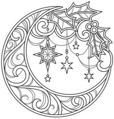 super Ideas for embroidery patterns christmas urban threads Free Adult Coloring, Adult Coloring Book Pages, Printable Adult Coloring Pages, Mandala Coloring Pages, Christmas Coloring Pages, Coloring Pages To Print, Colouring Pages, Coloring Sheets, Coloring Books