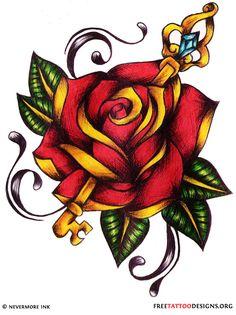 Gorgeous Rose & Key design