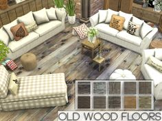 Old Wood Floors by Pralinesims at TSR via Sims 4 Updates