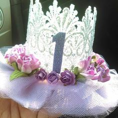 Follow and Shop @pinkys_ohh_so_cute for your favorite lace crowns Perfect for birthdays photoshoots cake toppers and any ocassion custom orders welcome!!!