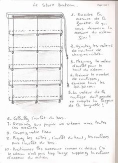 comment fabriquer un store romain | Le store bateau - Les ptites mains de Keryado