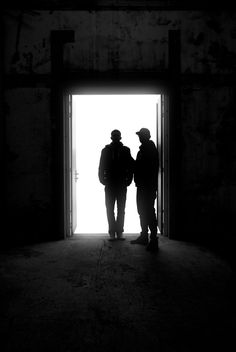 This is Loadstar at an abandoned suger factory during sundown where the sun just blasted them from behind, creating sharp silhouettes.