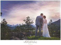 Summer Wedding, Estes Park, The View Restaurant, Historic Crag's Lodge, Estes Park Wedding, Mountain Wedding, Christian Wedding, rocky mountain wedding, bride and groom with mountains, outdoor wedding