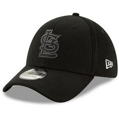 cheaper a03b6 b10fa St. Louis Cardinals New Era Clubhouse Collection 39THIRTY Flex Hat - Black