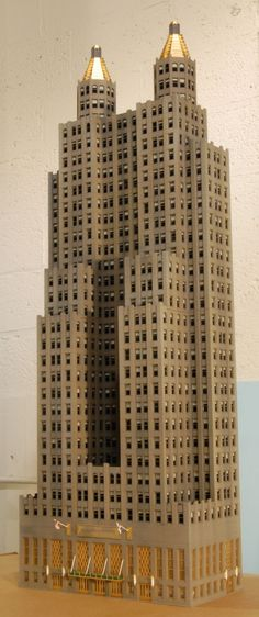 Skyscraper model...looks like the Waldorf Astoria Hotel in NYC