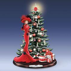 Refreshing Holiday Cheer Coca Cola Tree with Figurine Bradford Exchange
