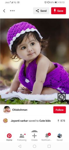 Cute Kids, Babe, Crochet Hats, Children, How To Wear, Fashion, Knitting Hats, Young Children, Moda