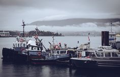 Tymac Outlook - Shot from behind the Tymac boatyard on this rainy day.