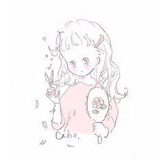 CahoさんはInstagramを利用しています:「髪を切れば 君と話す話題になるかな、 君の目に少しでも私が映るかな、 #illustration #イラスト #illustrator」 Sketchbook Drawings, Art Sketches, Cute Kawaii Drawings, Cute Art Styles, Japan Design, Kawaii Wallpaper, Detail Art, Anime Art Girl, Pretty Art
