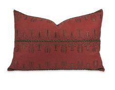 "IK Arezo Beaded Embroidery Pillow w/ Down Insert 14""""h x 21""""w"