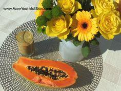 Smoothie s papájou pro silnější a krásnější nehty http://moreyouthfulskin.com/cs/smoothie-silnejsi-krasnejsi-nehty/ #follow #blogger #křehké lámavé nehty #slabé třepivé nehty #smoothie s papájou #přírodní nehty #exotické ovoce #tropické ovoce #vroubkované nehty #rýhy na nehtech