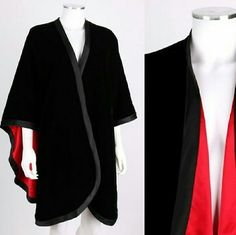 "Adrienne Landau Black Velvet & Red Satin Cape Amazingly soft and luxurious velvet and satin cape. One size fits most. 35"" long measured at back center, from neck down side arms 24"", across back at bottom 48"" Like new in excellent condition. Adrienne Landau Jackets & Coats Capes"