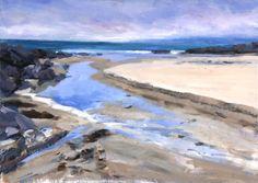 """Low Tide"" oil by Jonathan Shearer Nautical Painting, Seaside Theme, Best Oils, Creative Skills, Oil Paintings, 2d, Illustrations, Fine Art, Landscape"