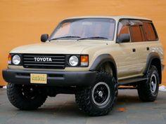 ランクル80丸目 ワイド ベージュ Land Cruiser Fj80, Toyota Land Cruiser 100, Japanese Cars, Prado, Van Life, Jeep, Trucks, Toyota Suvs, Vehicles