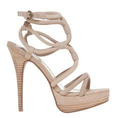 SUEDE HIGH-HEELED STRAPPY SANDALS