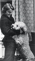 Baryshnikov with his poodle Foma