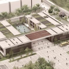 The District Department of Education partnered with architect Frank Locker for new design schools that seem least one prison and a learning space. Green Architecture, Concept Architecture, School Architecture, Landscape Architecture, Landscape Design, Architecture Design, Memorial Architecture, Landscape Steps, Residence Senior