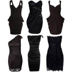 Black bridesmaid dresses, a couple with lace. Love it.
