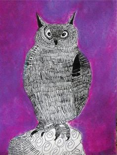 Artsonia Art Museum :: Artwork by Trinidy15 - pen and ink owls