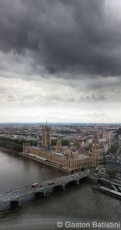"""The Palace of Westminster, Big Ben, from """" the Eye """" London, England UK"""