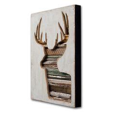 Barnwood Silhouette, Winter Deer Decor, Set of 2, Virginia Den Collection, Made to Order. $1 200,00, via Etsy.
