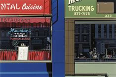 Oriental Cuinse, from the Urban Landscapes I portfolio, by Richard Estes. In this astounding silkscreen by Photorealist painter Richard Estes the architectural landscape of a sto. Modern Architecture House, Sustainable Architecture, Classical Architecture, Ancient Architecture, Landscape Architecture, Metal Facade, Glass Facades, Realistic Paintings, Photorealism