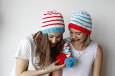 Dr Suess knitted beanies