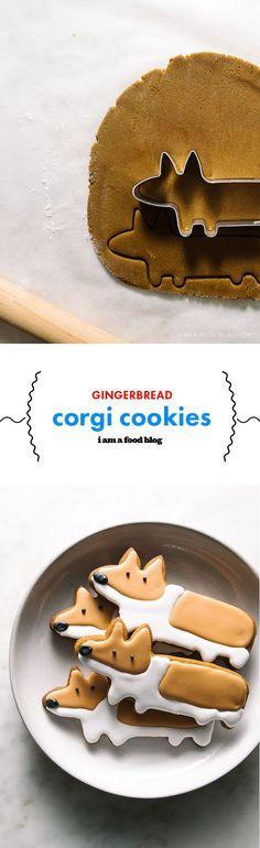 gingerbread corgi cookies   i am a food blog