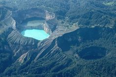 Kelimutu in Indonesia. One Mountain, Three Lakes, Three Colors.