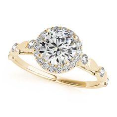 Transcendent Brilliance 14k White, Rose Or Yellow Gold 1 1/3ct TDW White Diamond Vintage Style Engagement Ring (F-G, VS1-VS2) (Yellow - Size 9), Women's